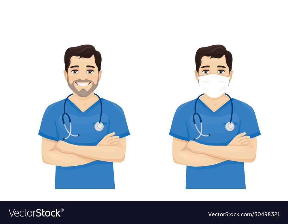 Male nurse character