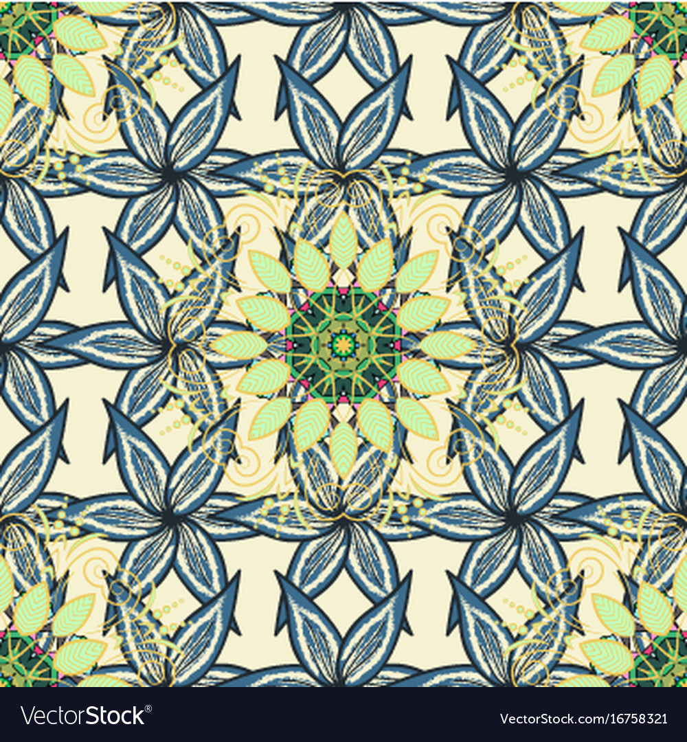 Nice flower pattern flowers on background colour vector image