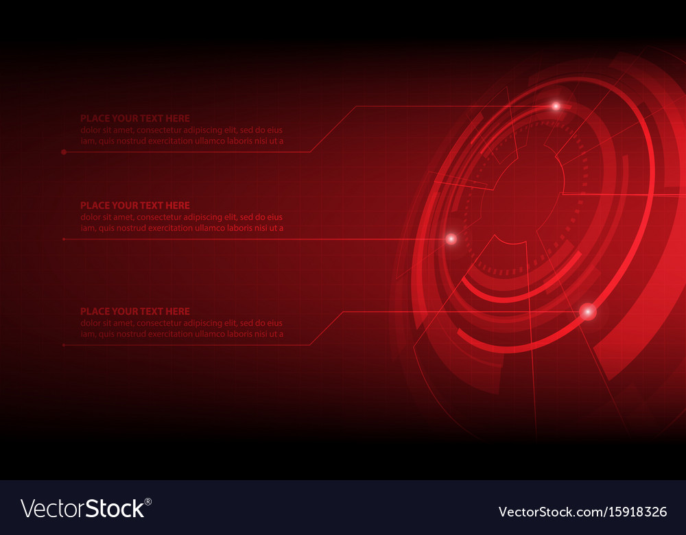 Abstract red circle digital technology background