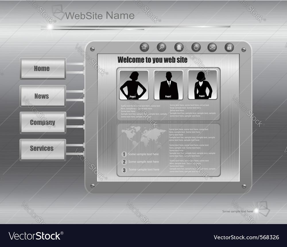 Business website template metal