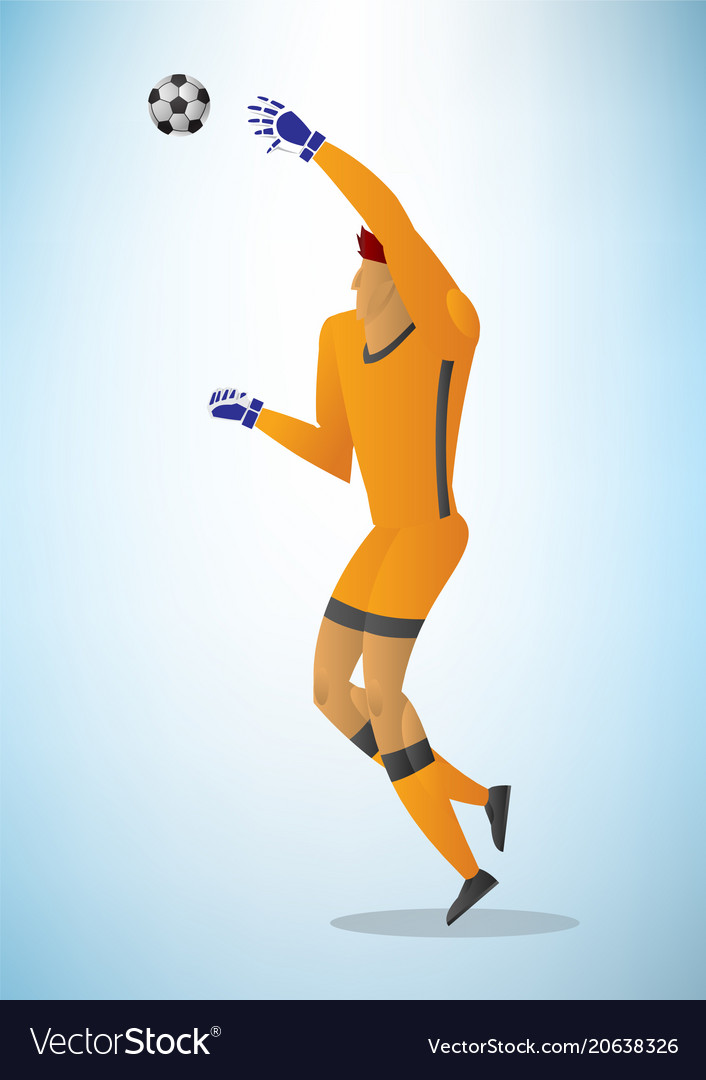 Football goalkeeper player