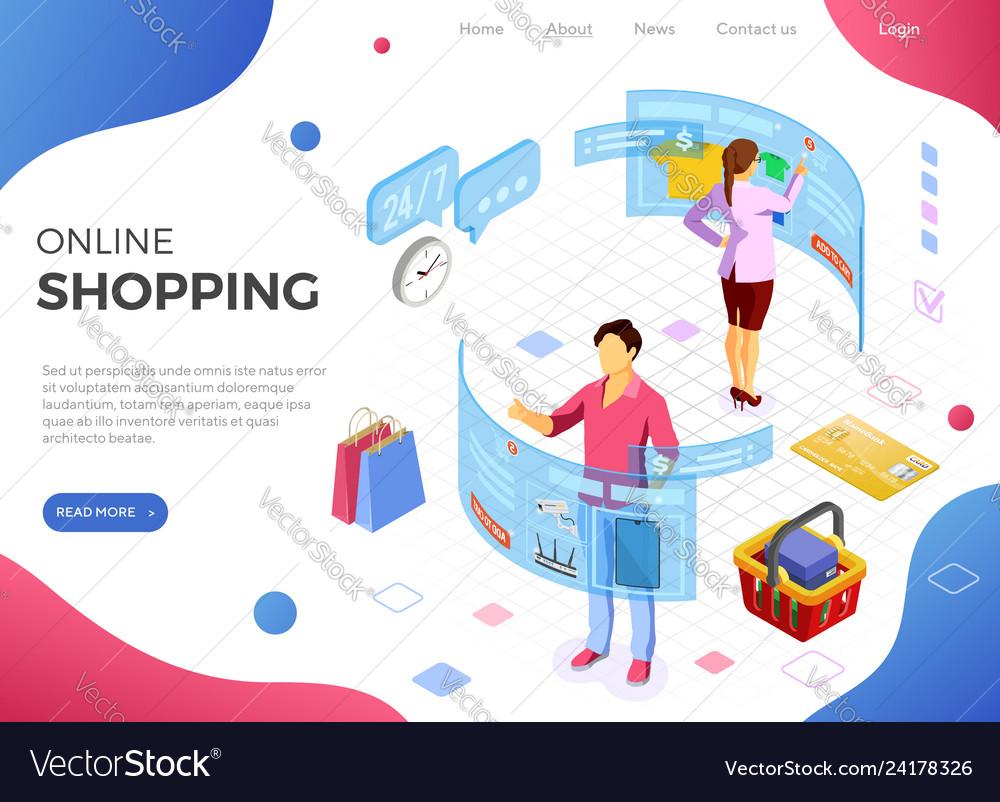 Isometric virtual augmented reality shopping