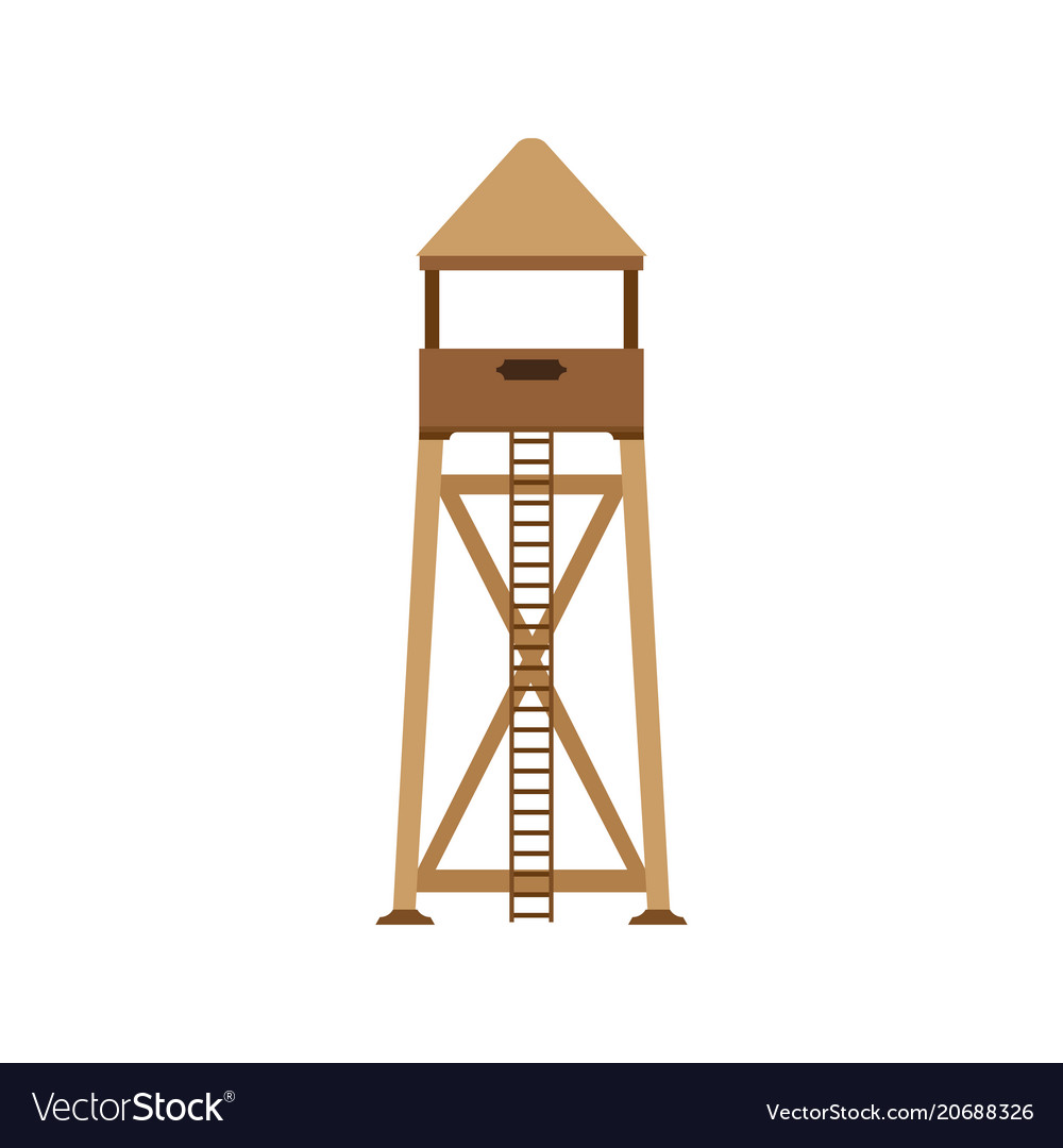 Tower observation icon post background lifeguard