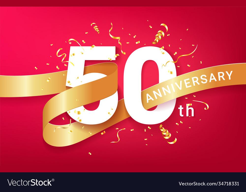 50th anniversary celebration banner template