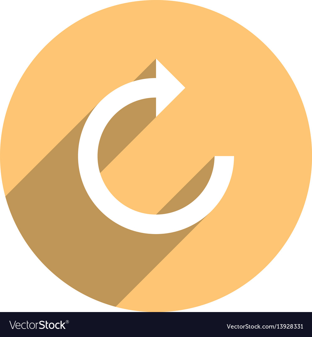 Arrow sign reload icon circle button