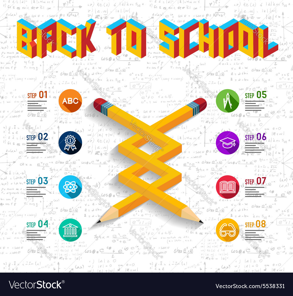 Back to school infographic design