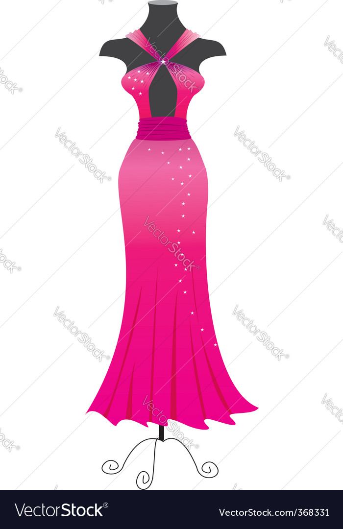Evening Dress on Evening Dress Vector 368331 By Geraktv