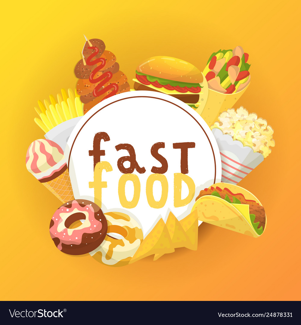 Fast food banner poster