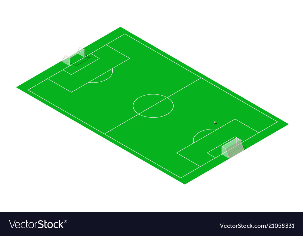 Football and soccer sport field isometric