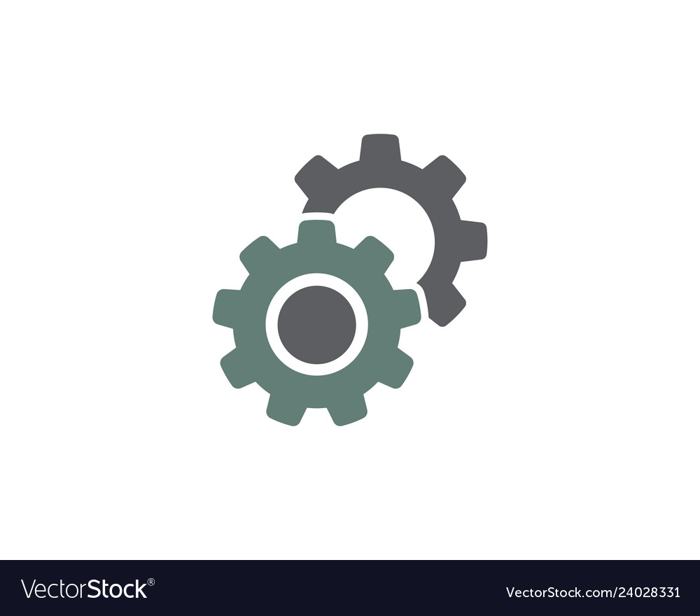 Gear logo template icon
