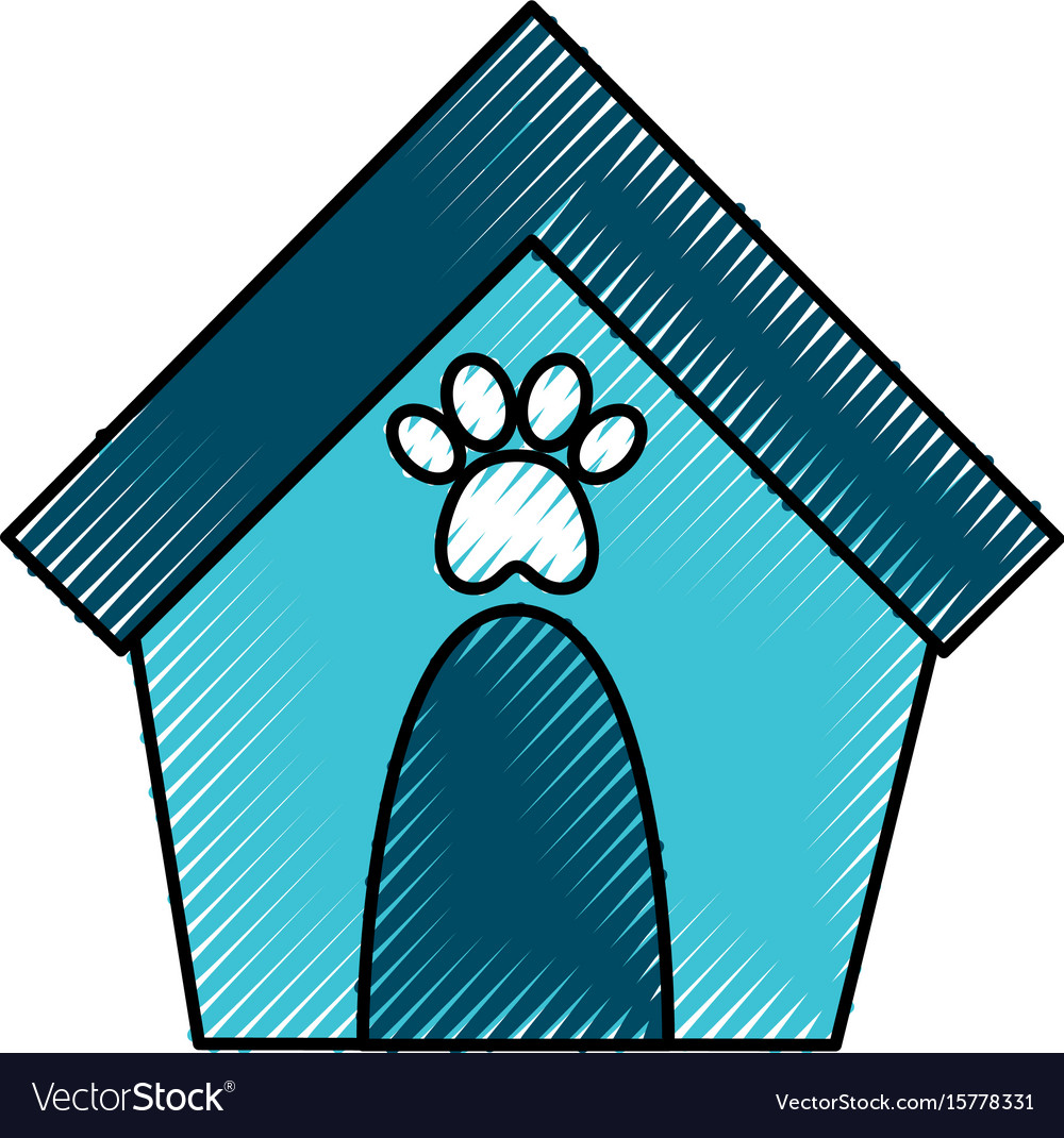 House mascot isolated icon vector image