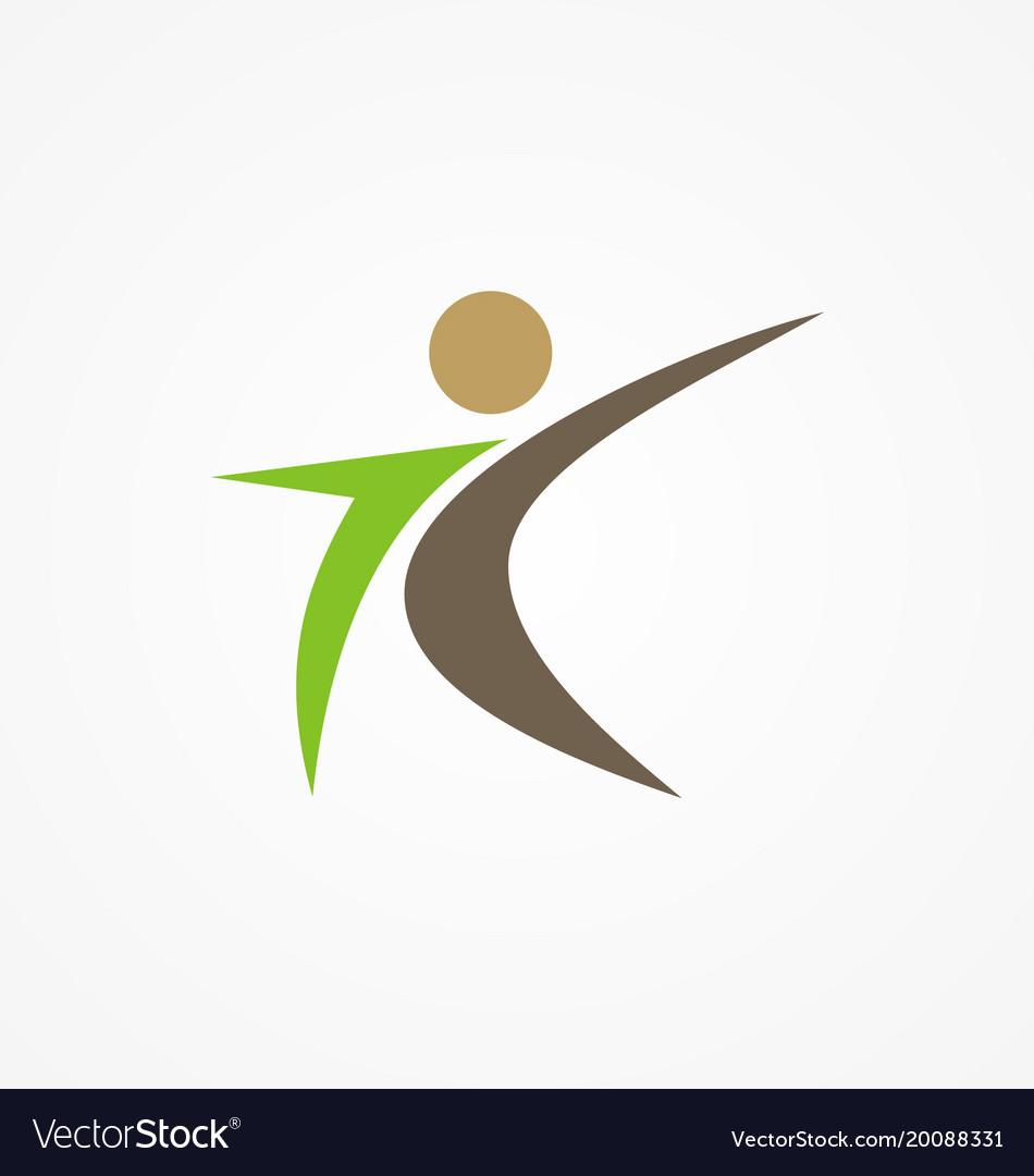 Man active people logo vector image