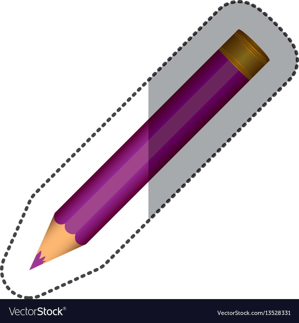 Purple pencil school icon