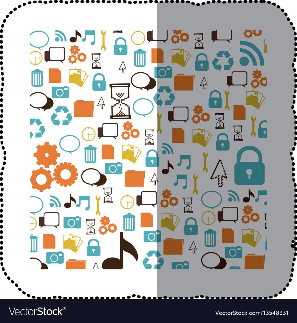 Symbols computer background icon vector image