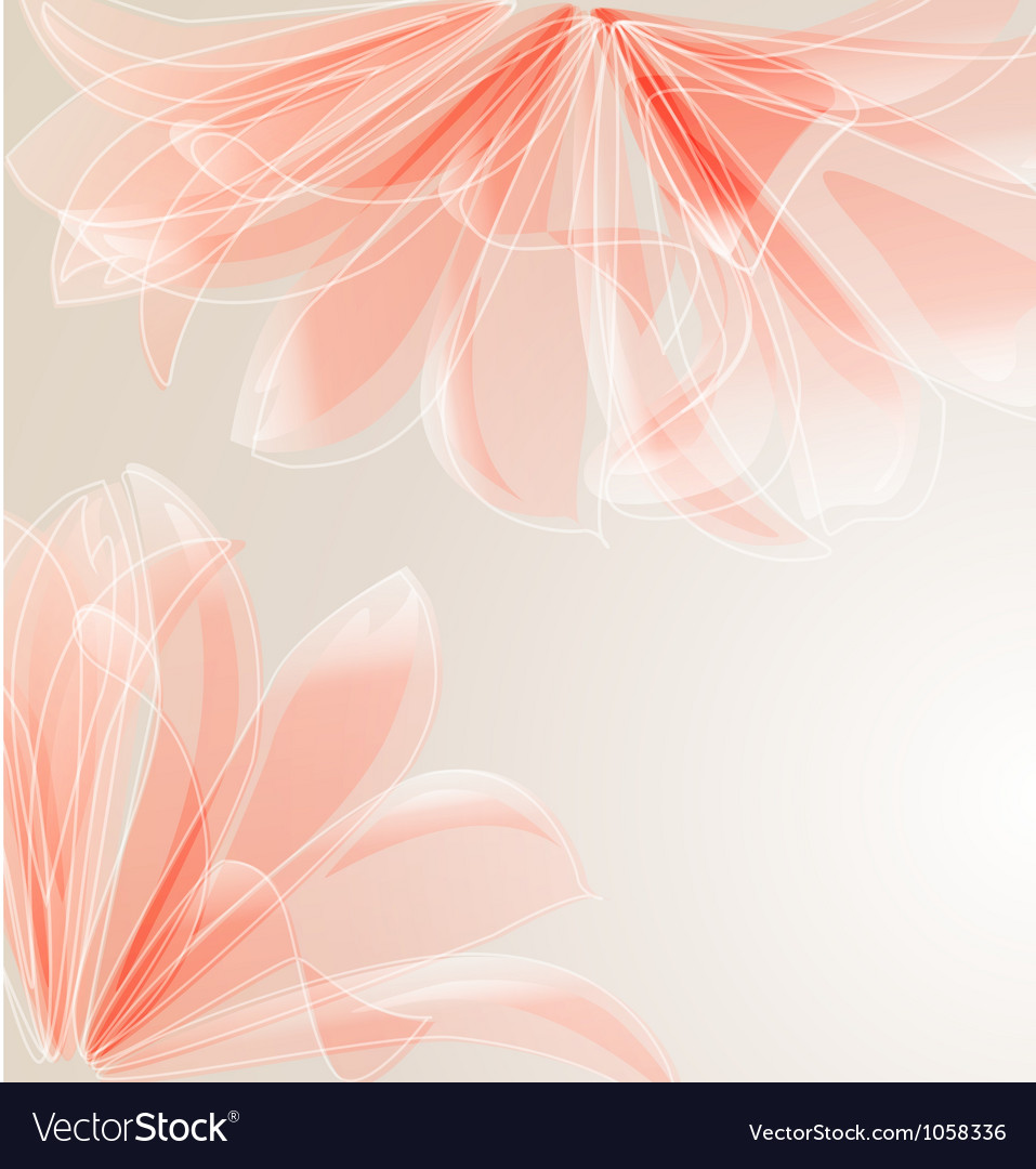 Abstract floral background with place for text