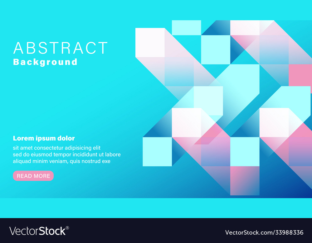 Abstract geometric shape pastel blue and pink