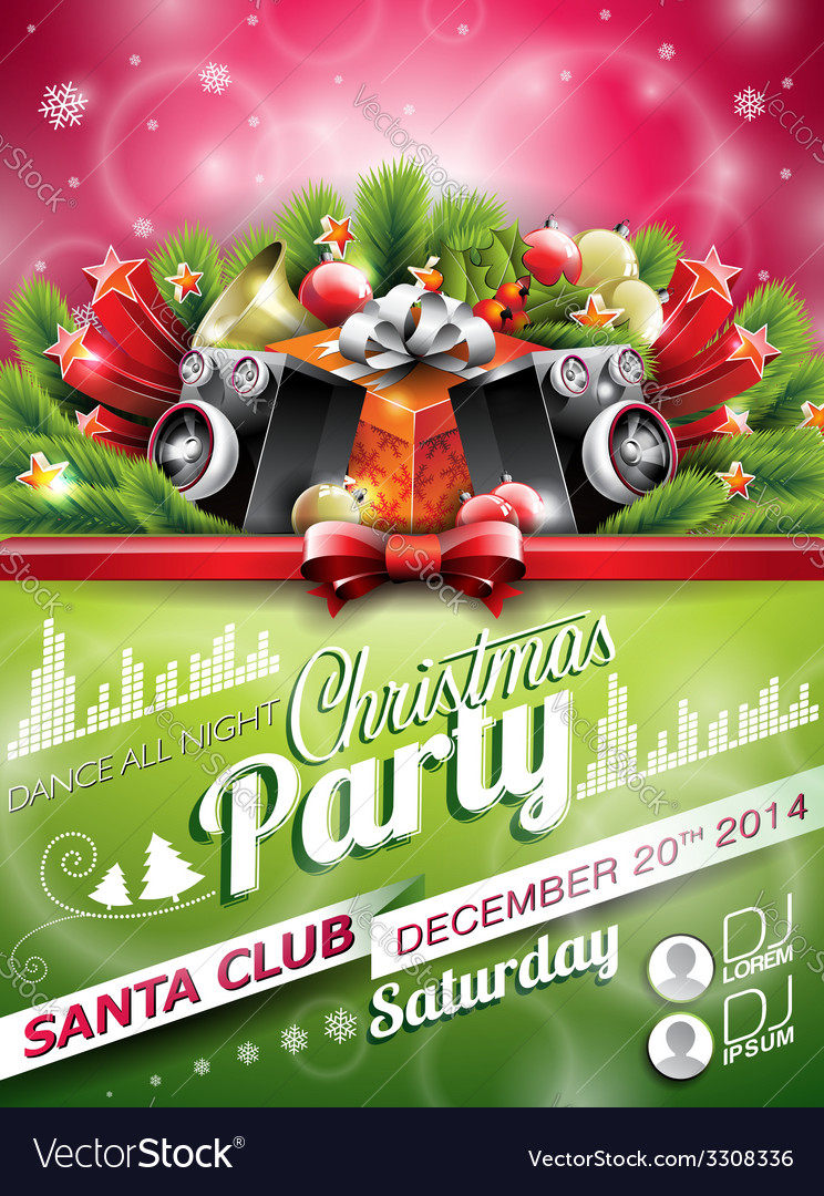 Christmas Party design with holiday elements