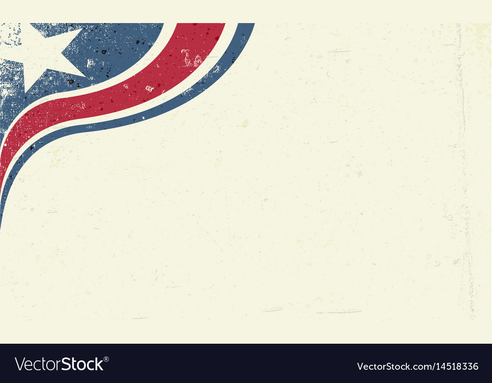 Grunge abstract america patriotic background star vector image