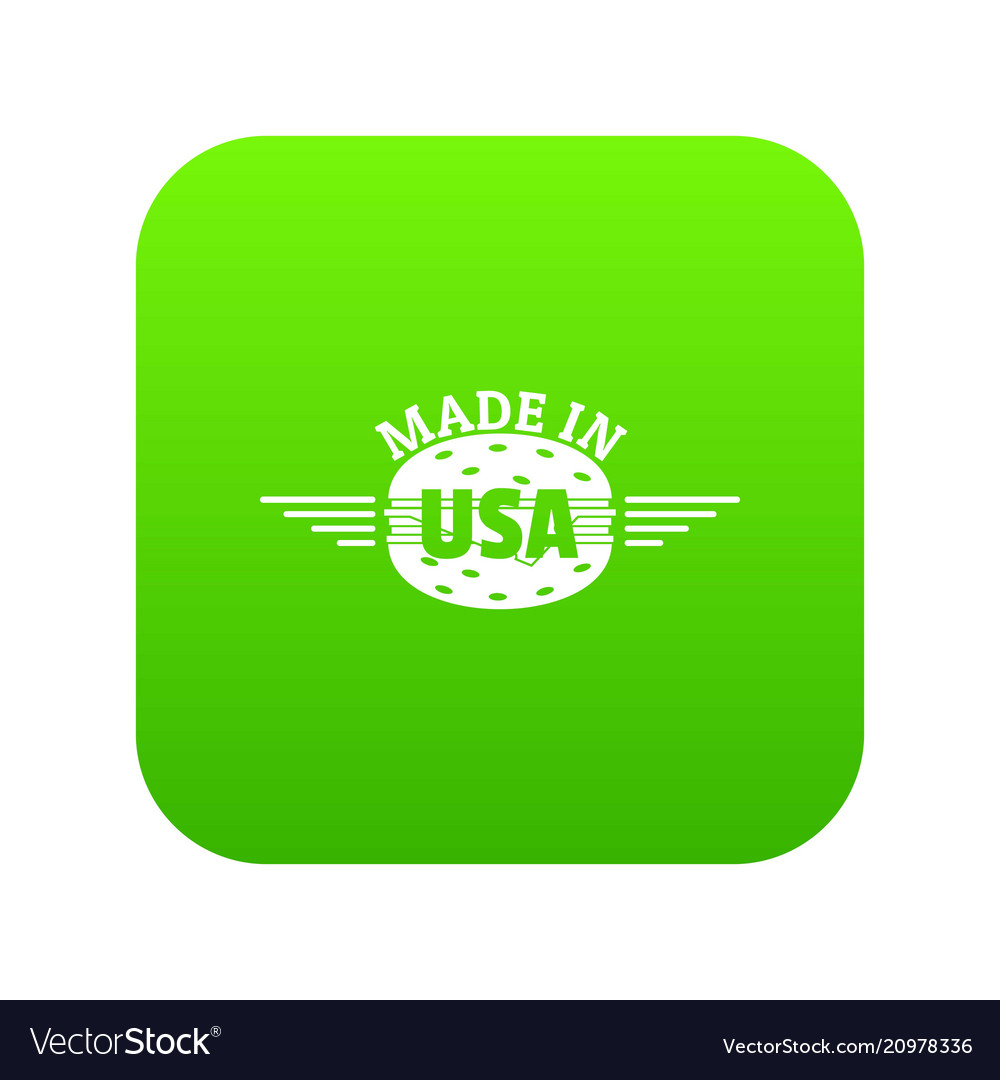 Made in usa icon green