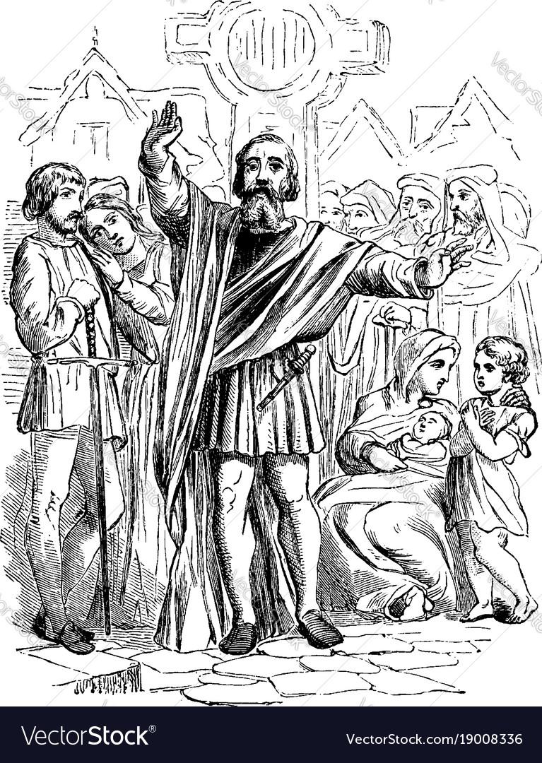 Medieval preacher vintage