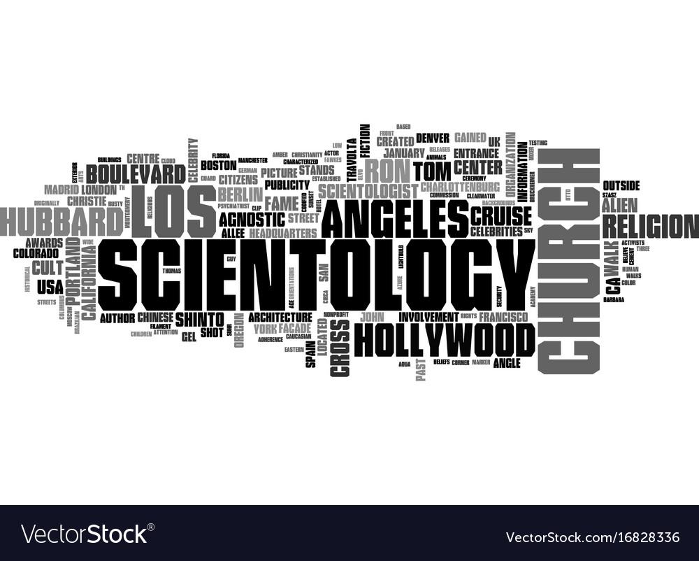 Scientology word cloud concept