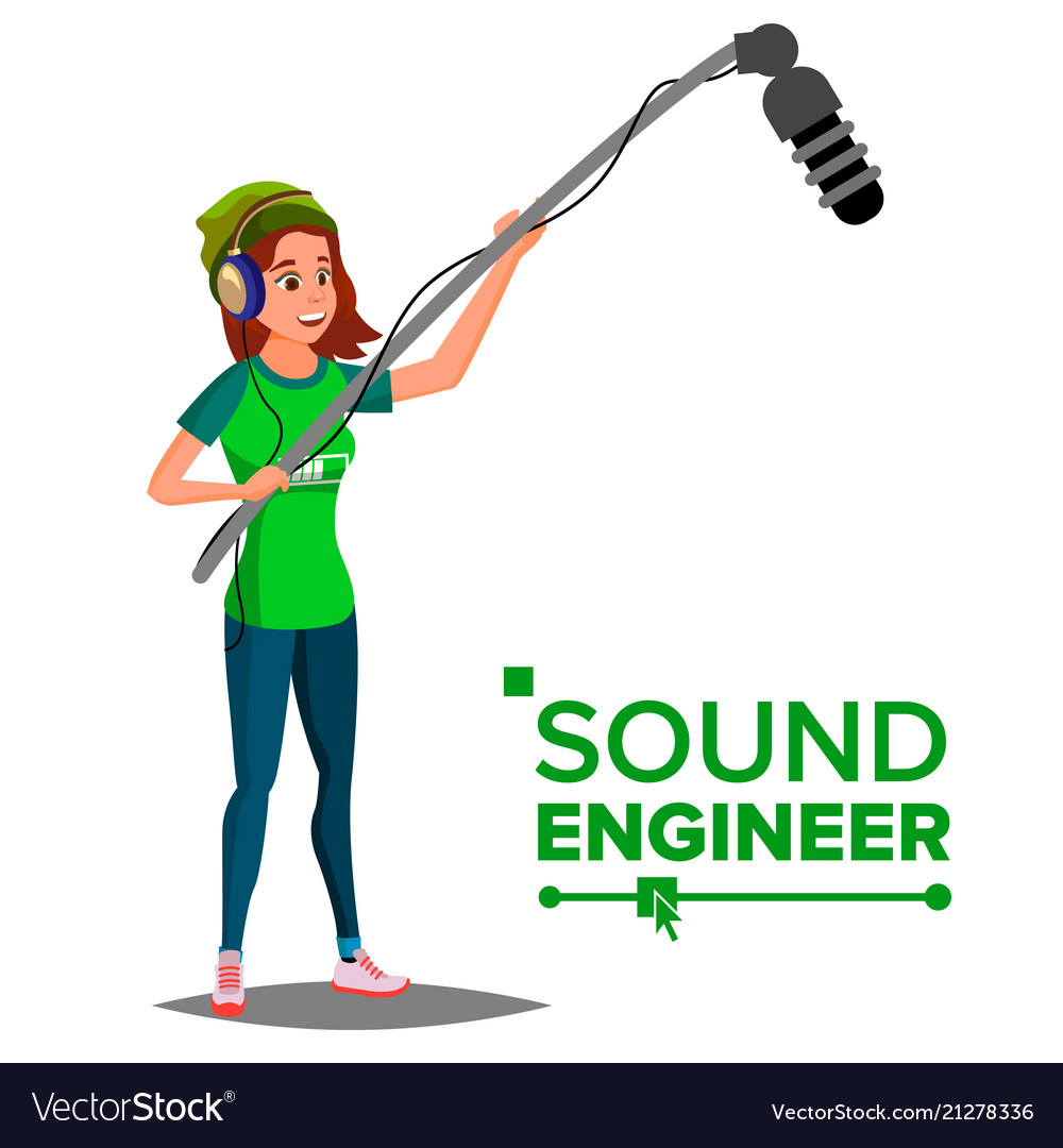 Sound engineer man professional