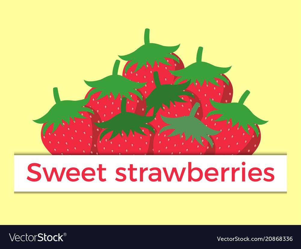 Sweet strawberry flat style
