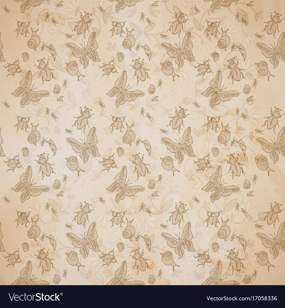 Vintage natural seamless pattern