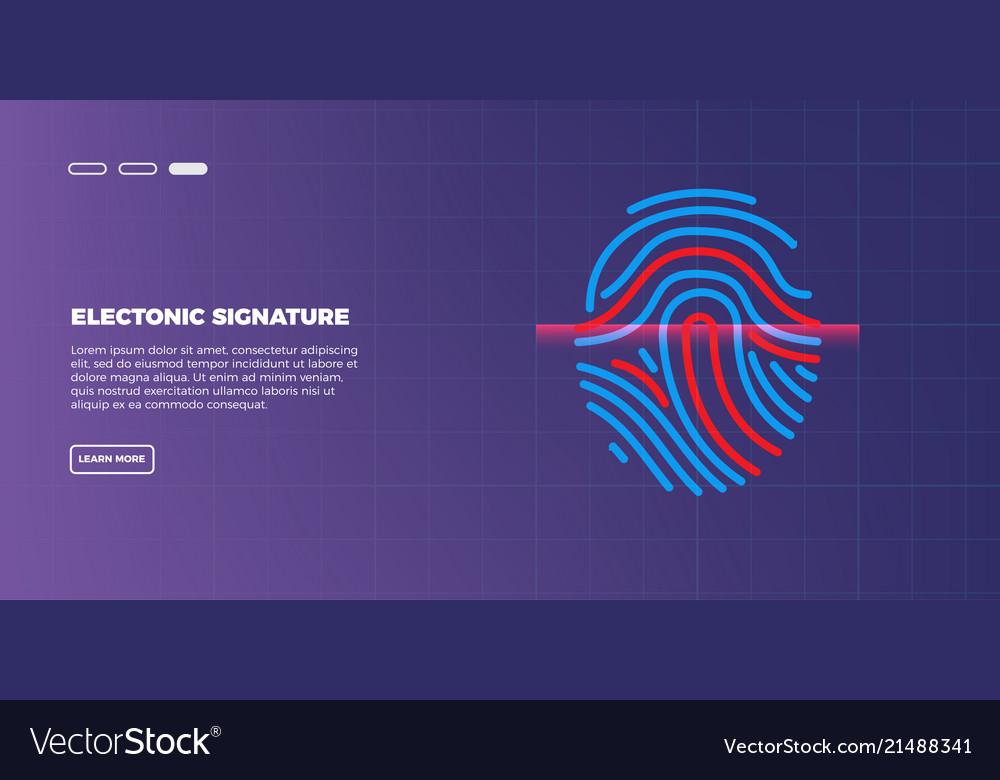 Abstract futuristic digital fingerprint scanner