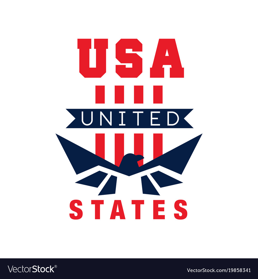 American logo template with eagle silhouette usa