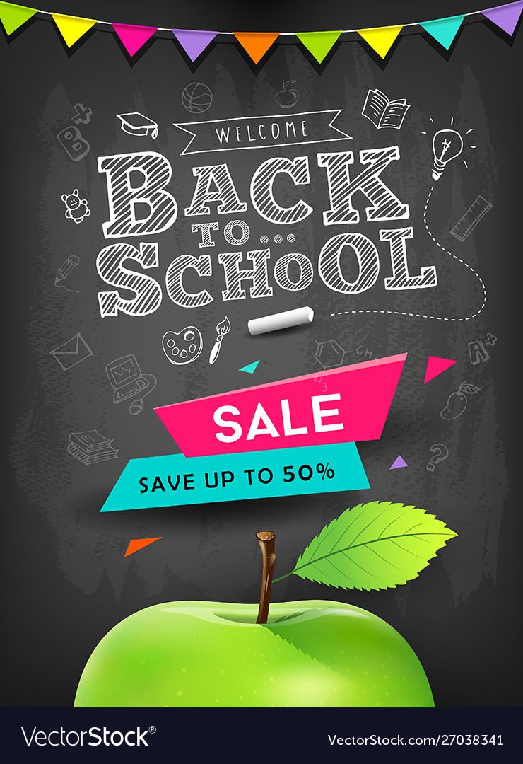 Back to school apple sale concept design
