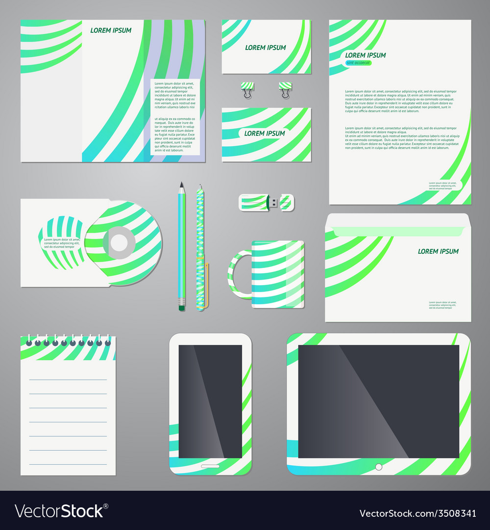 Brand Identity Company Style Template Royalty Free Vector