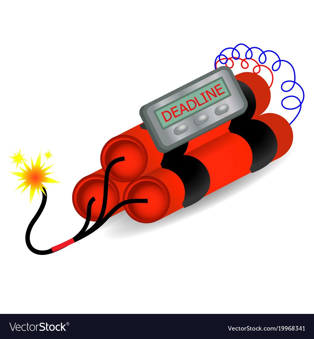 Deadline time bomb explosion danger concept