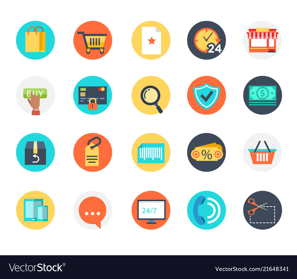 E-commerce icon online shoping business payment