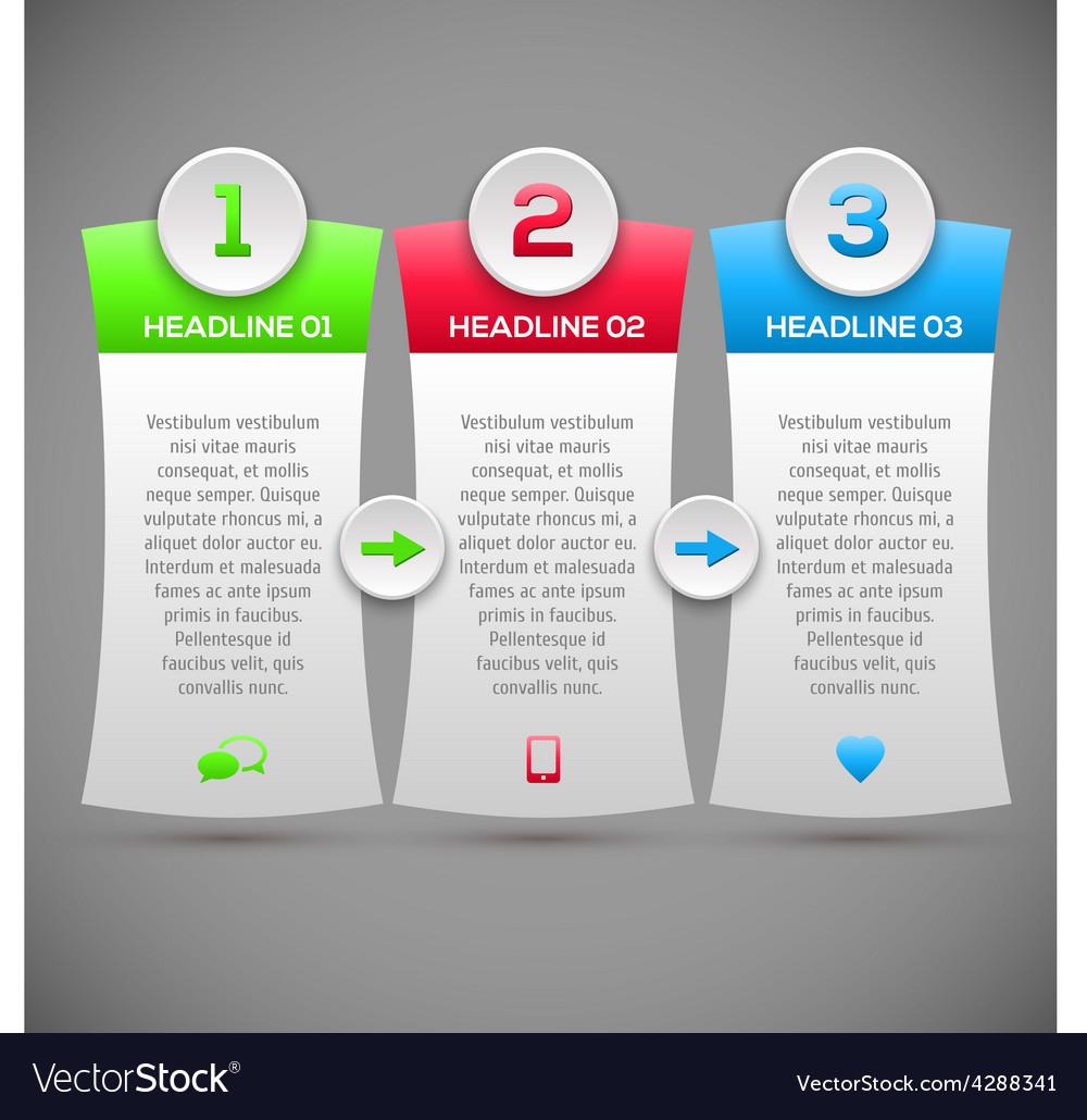 Modern infographics options banner Modern Design