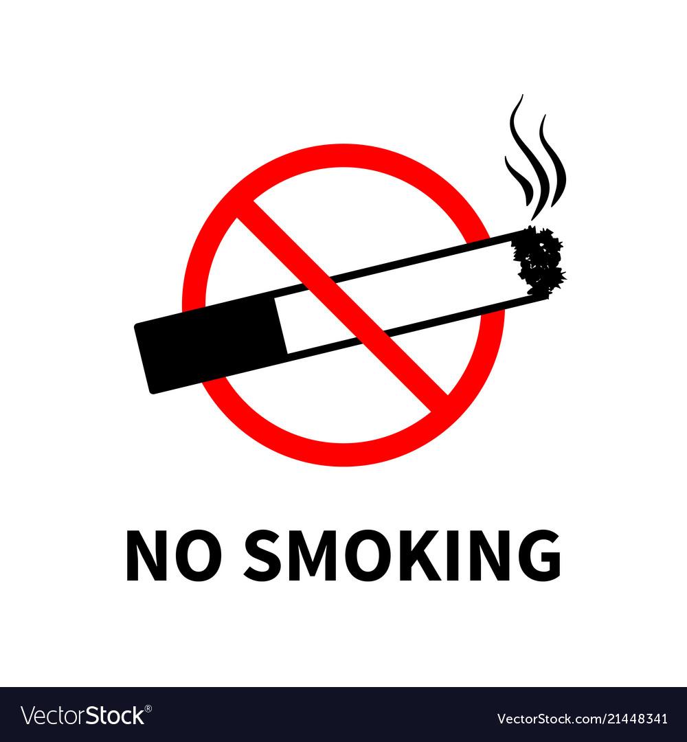 No smoking forbidden sign black cigarette with