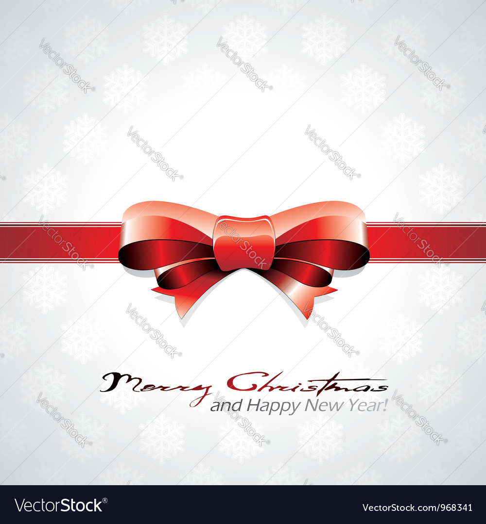 Red bow Christmas background