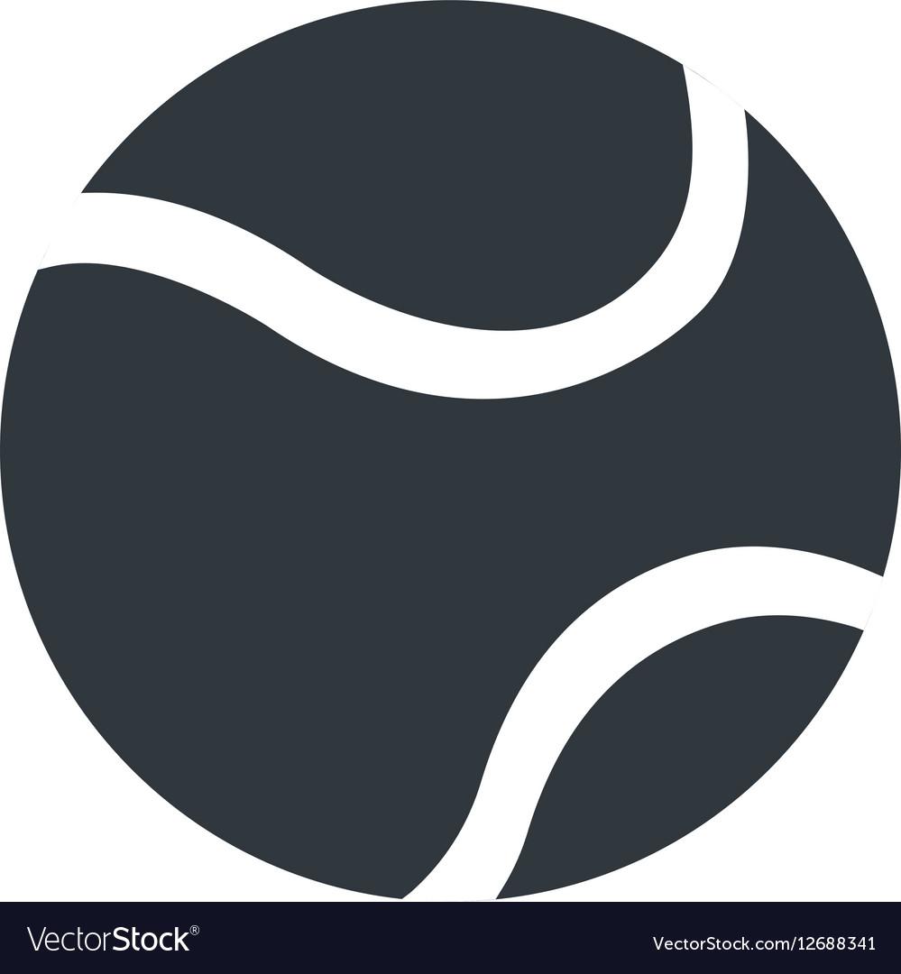 Silhouette tennis ball sport icon