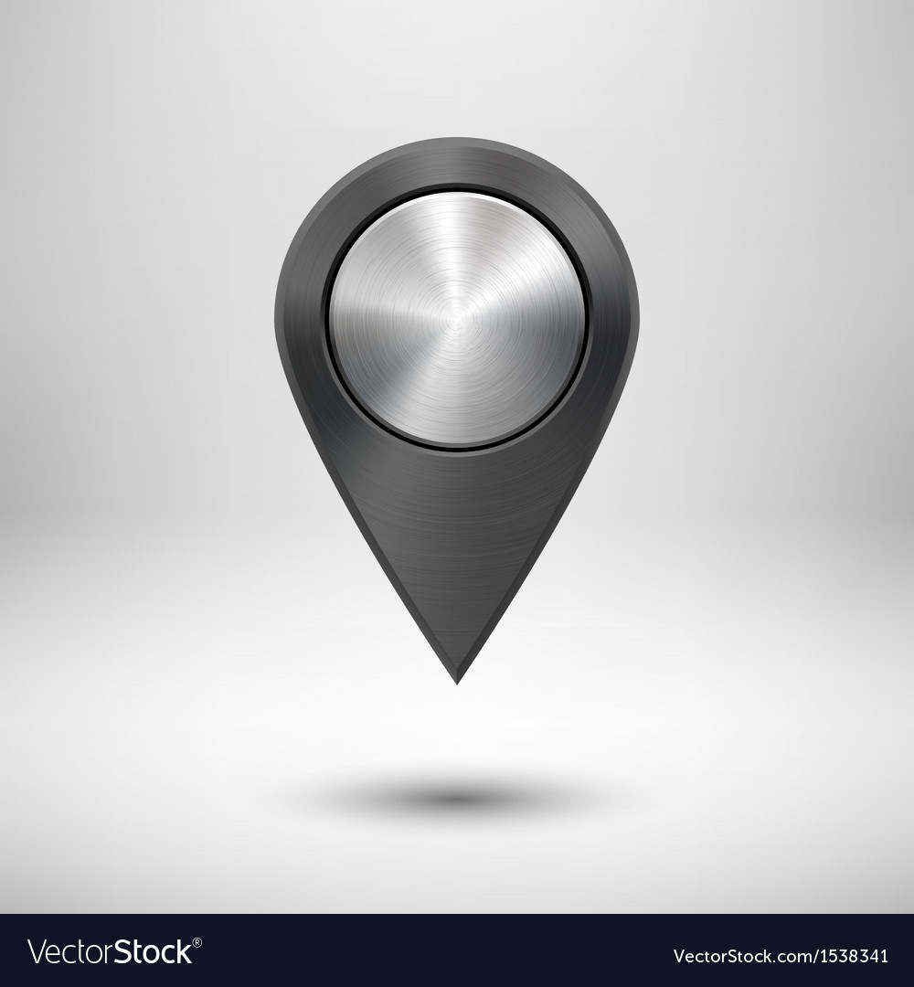 Technology Map Pointer with Black Metal Texture