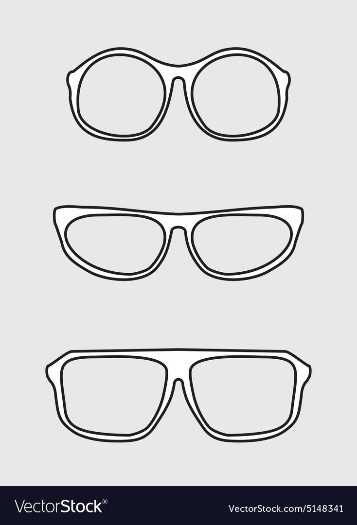 White glasses set