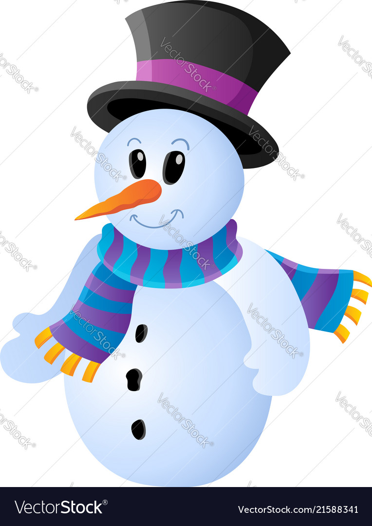 winter snowman theme image 1 royalty free vector image rh vectorstock com winter vector images winter vector free