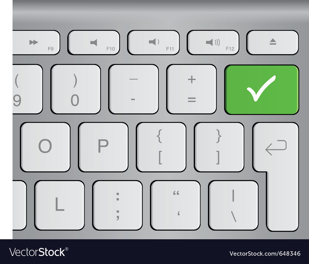 Approval button vector image