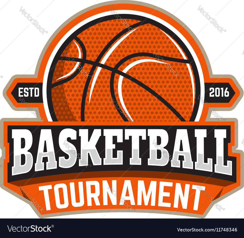 Basketball tournament Emblem template with