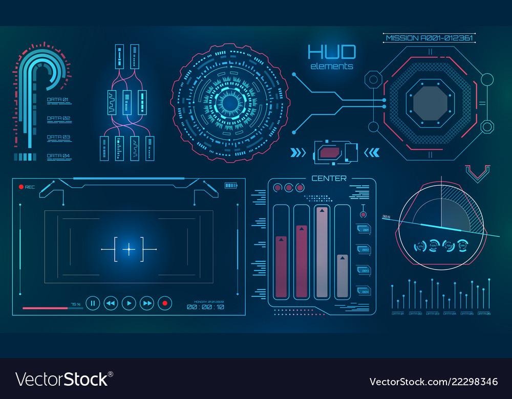 Futuristic user interface hud fui technology