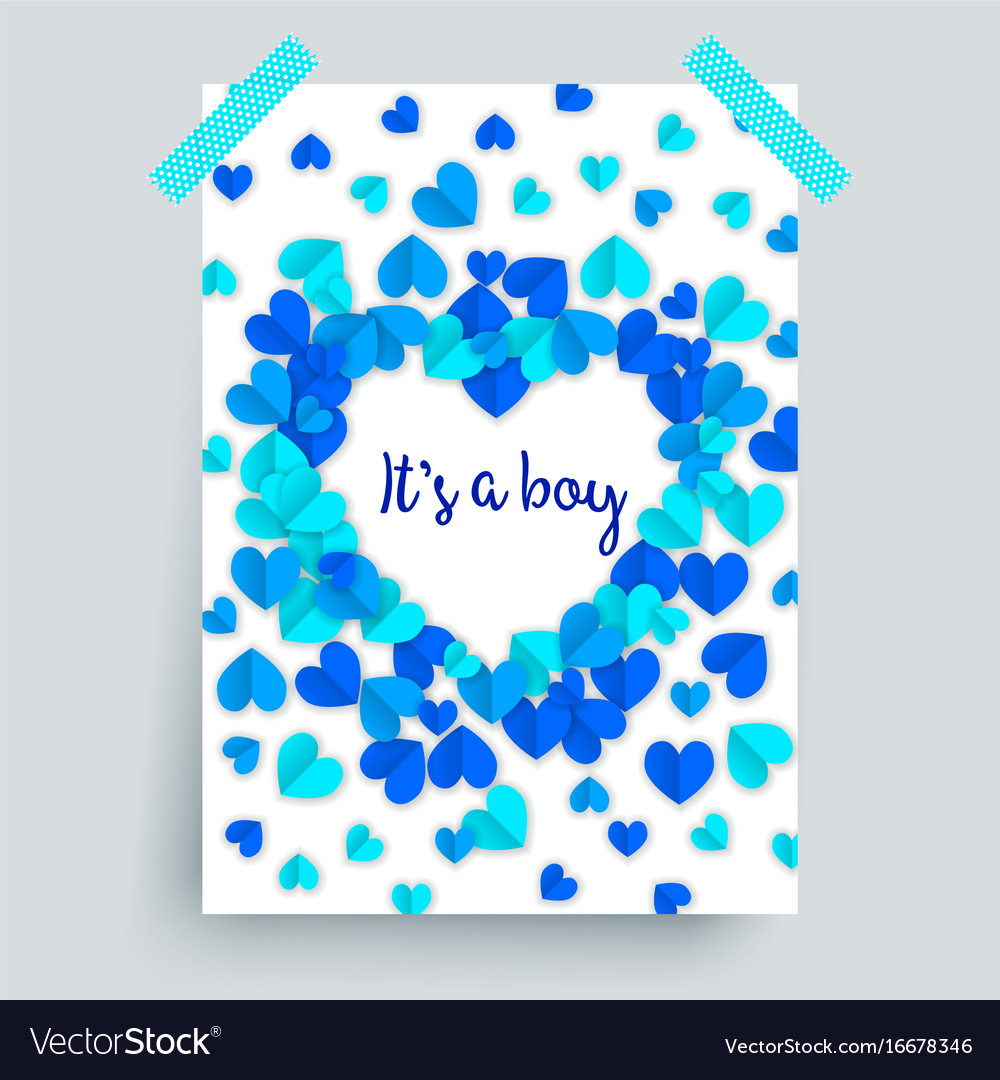 Its A Boy Blue Baby Shower Royalty Free Vector Image
