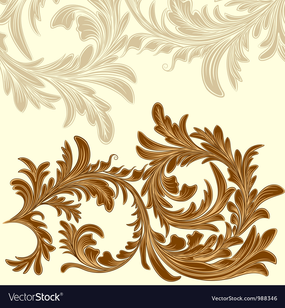 Vintage background with calligraphic detailed vector image