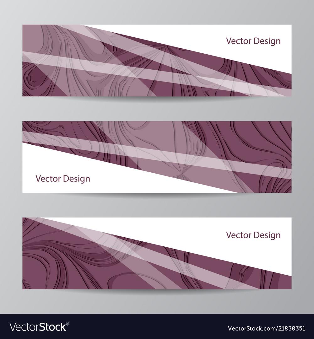 Abstract geometric design banner web