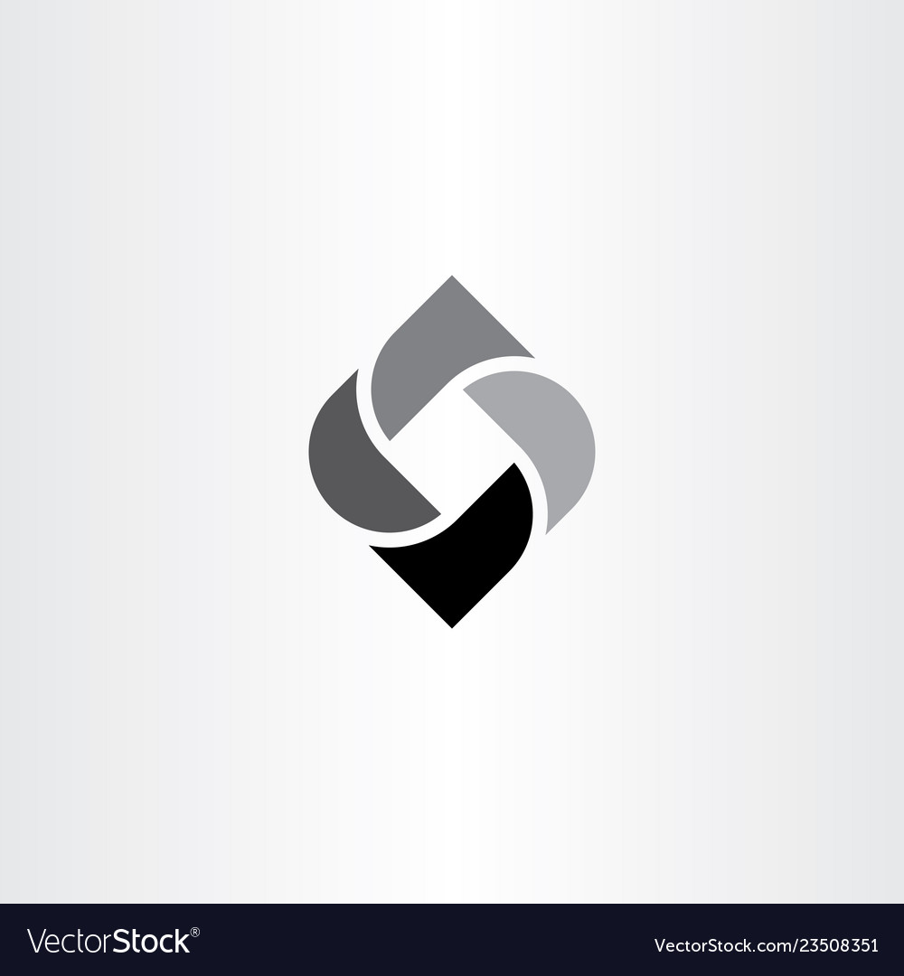 Black Abstract Business Symbol Icon Element Logo