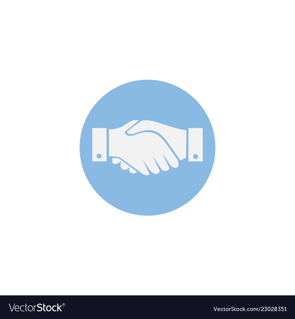 Business handshake contract flat icon