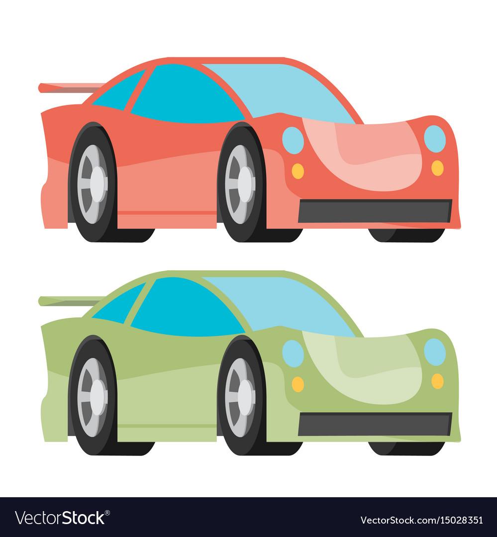 Car icon fast racing automobile